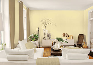 Bon Rosie On The House Pale Yellow Room. Painting The Inside Of A ...